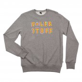 POLER Sweat FESTIVAL CREW, gray heather