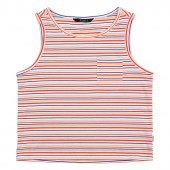 POLER Womens T-Shirt WHOLPHIN TANK burnt orange (stripe 2)