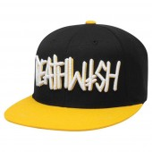 DEATHWISH Cap DEATHSPRAY Snapback, black/yellow