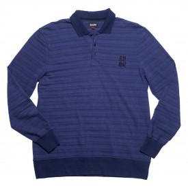 ALTAMONT Polo LAY L/S knit dark blue
