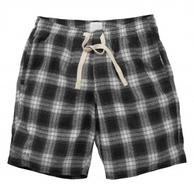 EMERICA Pant Short DROPOUT FLANNEL, black