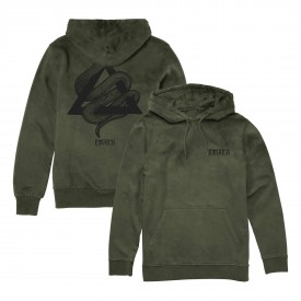 EMERICA Sweat CRAWL HOODED FLEECE, military