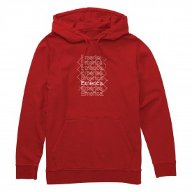 EMERICA Sweat LINK HOODED FLEECE, red