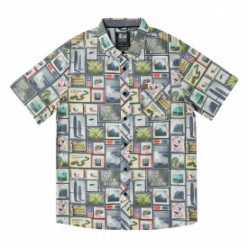HIPPYTREE Shirt COLLAGE S/S WOVEN, natural
