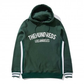 THE HUNDREDS Sweat GENESEE Hooded Pullover, hunter green