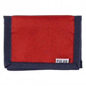 POLER CARD HOLDER BI-FOLD , mud red