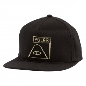 POLER CAP SUMMIT SNAPBACK, black