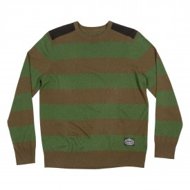 POLER Knit Pullover DOUBLE DOUBLE Crew, olive