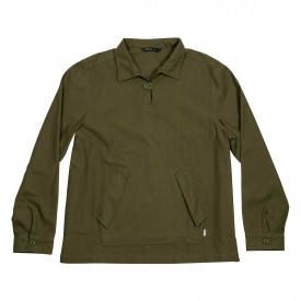 POLER Shirt LS POP OVER ZEBROID burnt olive