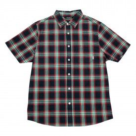POLER Shirt GROLAR BUTTON UP SS blue steel plaid