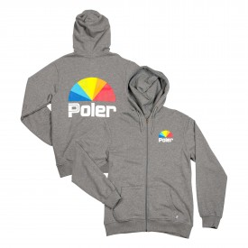 POLER Zip Up 35 MM HOOD heather grey