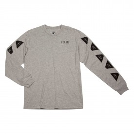 POLER Longsleeve RACE DAY heather grey