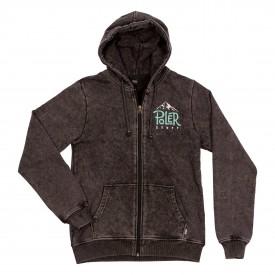 POLER Womens Zip Up PEAKS Hood black acid