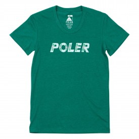 POLER Womens T-Shirt FLOWER heather green