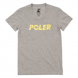 POLER Womens T-Shirt FLOWER heather grey