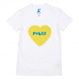POLER Womens T-Shirt FURRY HEART white