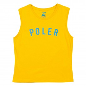 POLER Womens T-Shirt STATE TANK golden rod