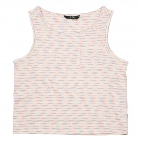POLER Womens T-Shirt WHOLPHIN TANK white (stripe)