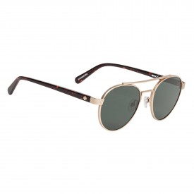 SPY Sunglasses DECO, SOFT MATTE GOLD DARK TORT - HAPPY GRAY GREEN
