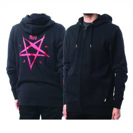 ALTAMONT Zip Up PENTAGRAM Hooded black/red