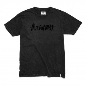 ALTAMONT T-Shirt ONE LINER WASH black/black