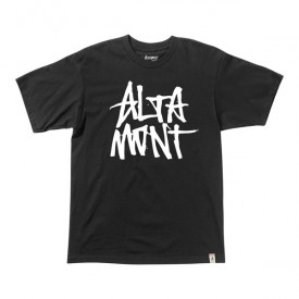 ALTAMONT T-Shirt STACKED black/white