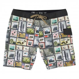 HIPPYTREE Boardshort COLLAGE TRUNK natural
