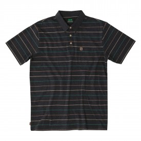 HIPPYTREE Polo CULVER  heather black