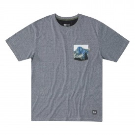 HIPPYTREE T-Shirt MUIR POCKET heather grey