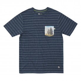 HIPPYTREE T-Shirt TWIN PINES KNIT heather navy