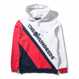 THE HUNDREDS Sweat SLOPE Hooded white