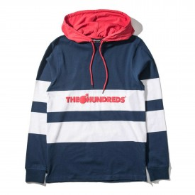 THE HUNDREDS Longsleeve RIDGE Hooded navy