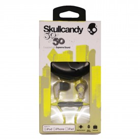 LOUD Headphone SKULLCANDY with MICROPHONE, dark gray-light gray-hot lime