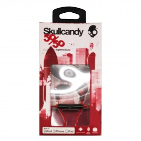LOUD Headphone SKULLCANDY with MICROPHONE, spaced out-clear-after burner maroon