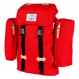 POLER Bag RETRO (CLASSIC) RUCKSACK, bright red