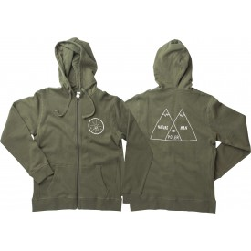 POLER Zip Up VENN DIAGRAM (MAN) & GOLDEN  army green