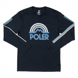 POLER Longsleeve MOUNTAIN RAINBOW navy